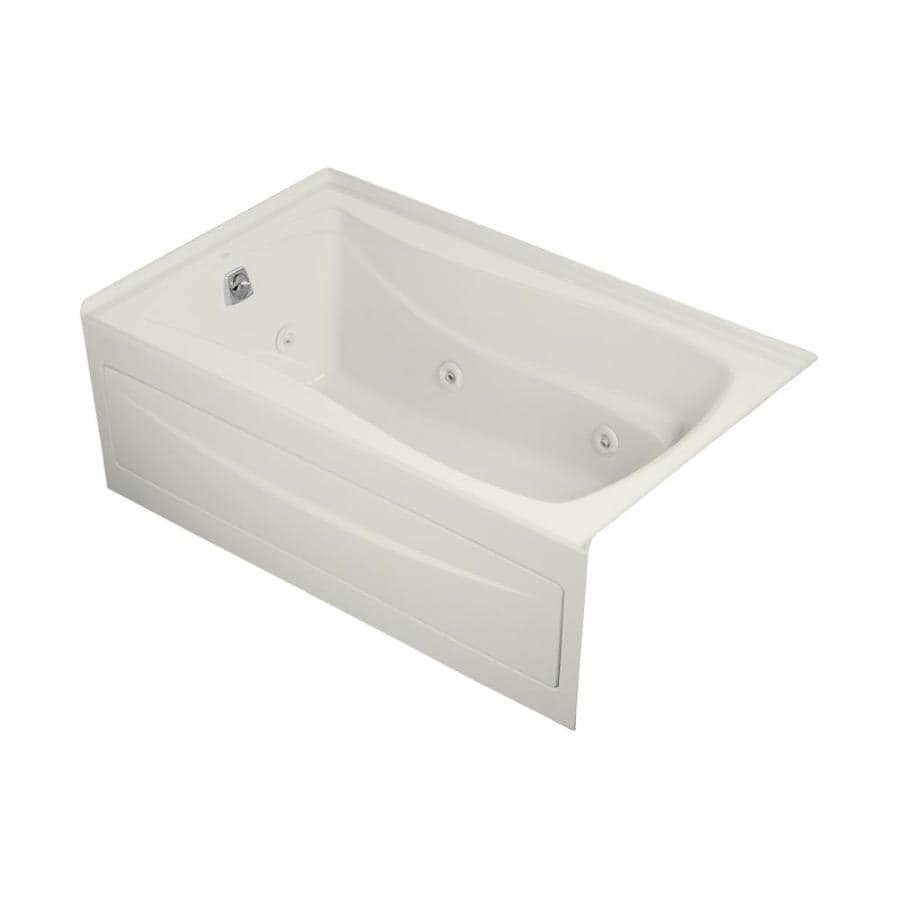 KOHLER Mariposa Biscuit Acrylic Rectangular Whirlpool Tub (Common: 36-in x 60-in; Actual: 20-in x 36-in x 60-in)