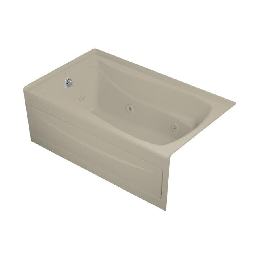 KOHLER Mariposa Sandbar Acrylic Rectangular Whirlpool Tub (Common: 36-in x 60-in; Actual: 20-in x 36-in x 60-in)