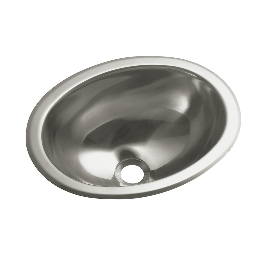 stainless bathroom sinks shop sterling stainless steel stainless steel 14549