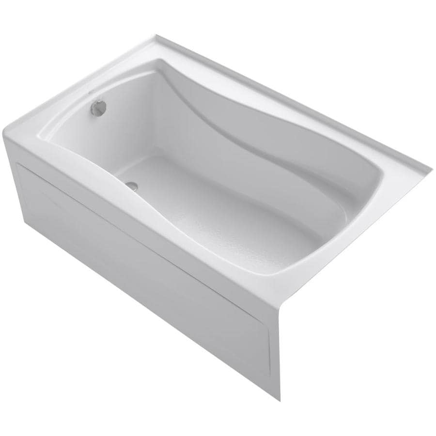 Shop KOHLER Mariposa 60 In White Acrylic Alcove Bathtub