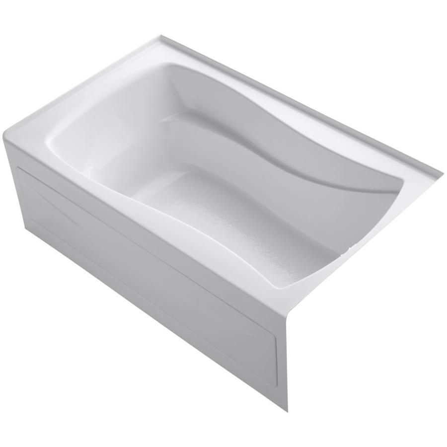 KOHLER Mariposa White Acrylic Hourglass In Rectangle Skirted Bathtub with Right-Hand Drain (Common: 36-in x 60-in; Actual: 20-in x 36-in x 60-in)