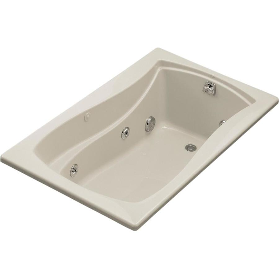 KOHLER Mariposa Sandbar Acrylic Rectangular Whirlpool Tub (Common: 36-in x 60-in; Actual: 20-in x 36-in x 60-in)