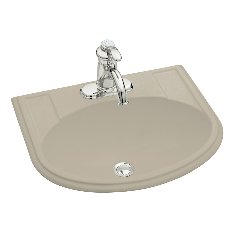 Shop kohler devonshire sandbar drop in oval bathroom sink with overflow at - Kohler devonshire reviews ...