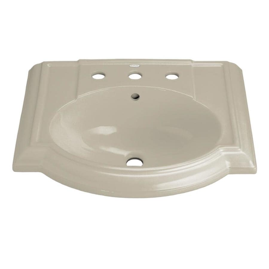 KOHLER Devonshire 24.13-in L x 19.75-in W Sandbar Vitreous China Oval Pedestal Sink Top