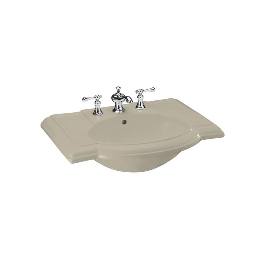 KOHLER 27.5-in L x 19.88-in W Sandbar Vitreous China Pedestal Sink Top