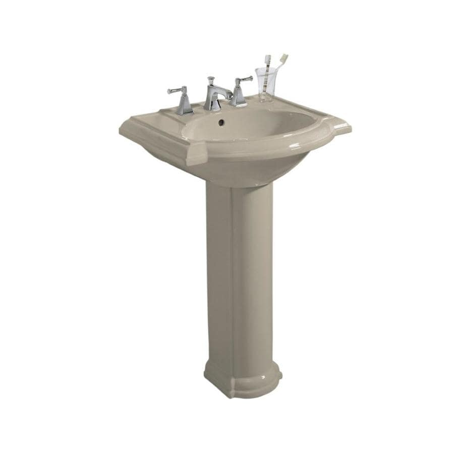 KOHLER Devonshire 33.5-in H Sandbar Vitreous China Pedestal Sink