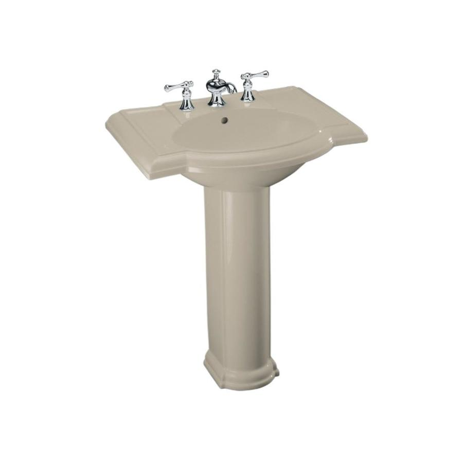 KOHLER Devonshire 33.5-in H Sandbar Vitreous China Pedestal Sink
