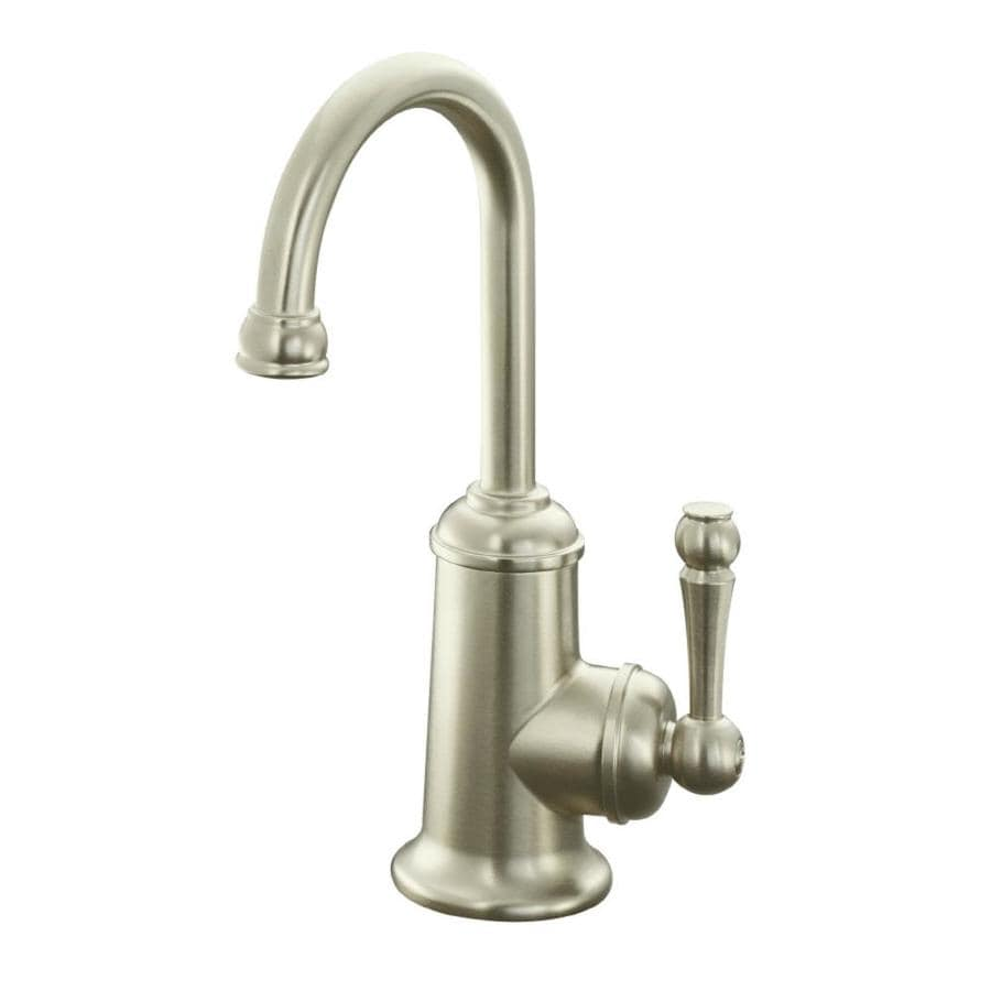 KOHLER Wellspring Vibrant Brushed Nickel 1-Handle Bar and Prep Faucet