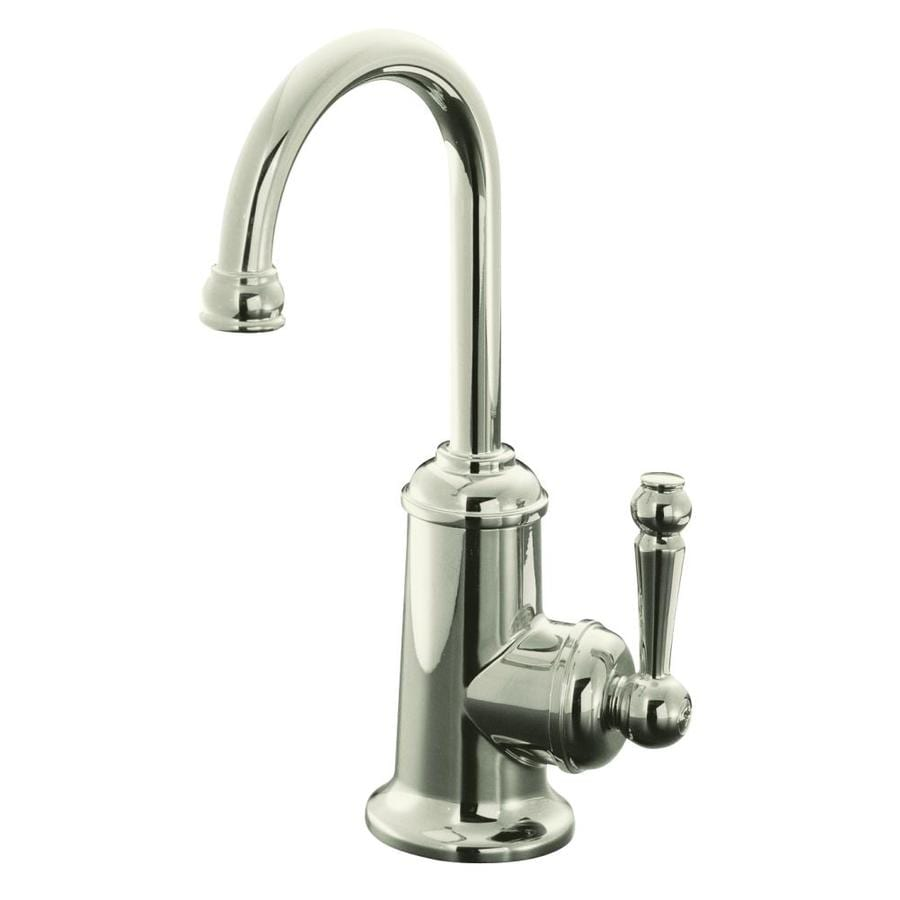 KOHLER Wellspring Vibrant Polished Nickel 1-Handle Kitchen Faucet