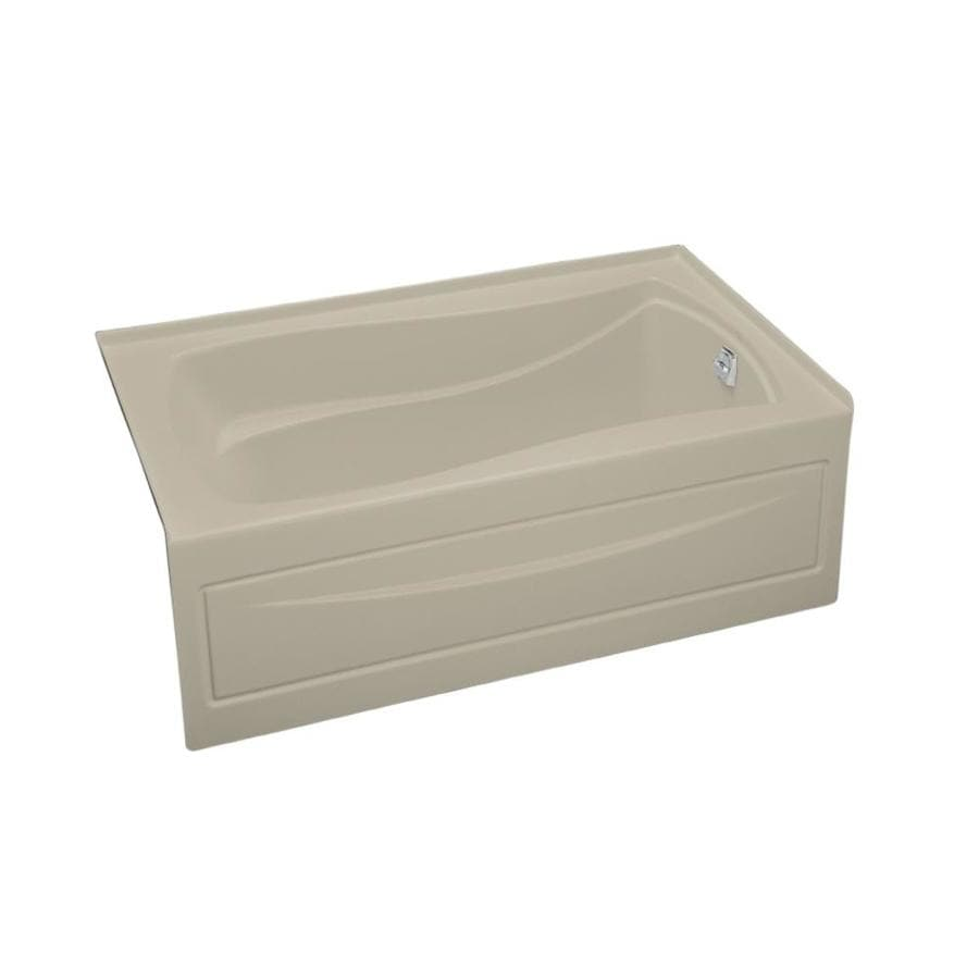 KOHLER Mariposa Sandbar Acrylic Hourglass In Rectangle Skirted Bathtub with Right-Hand Drain (Common: 36-in x 60-in; Actual: 20-in x 36-in x 60-in)