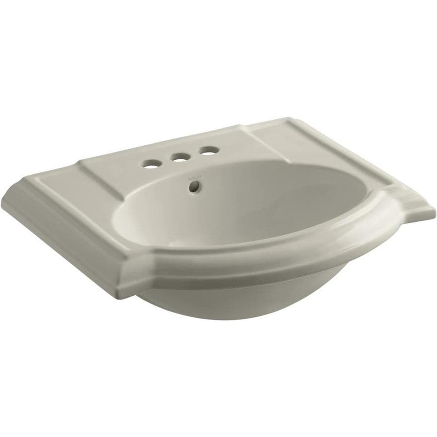 KOHLER 24.13-in L x 19.75-in W Sandbar Vitreous China Pedestal Sink Top