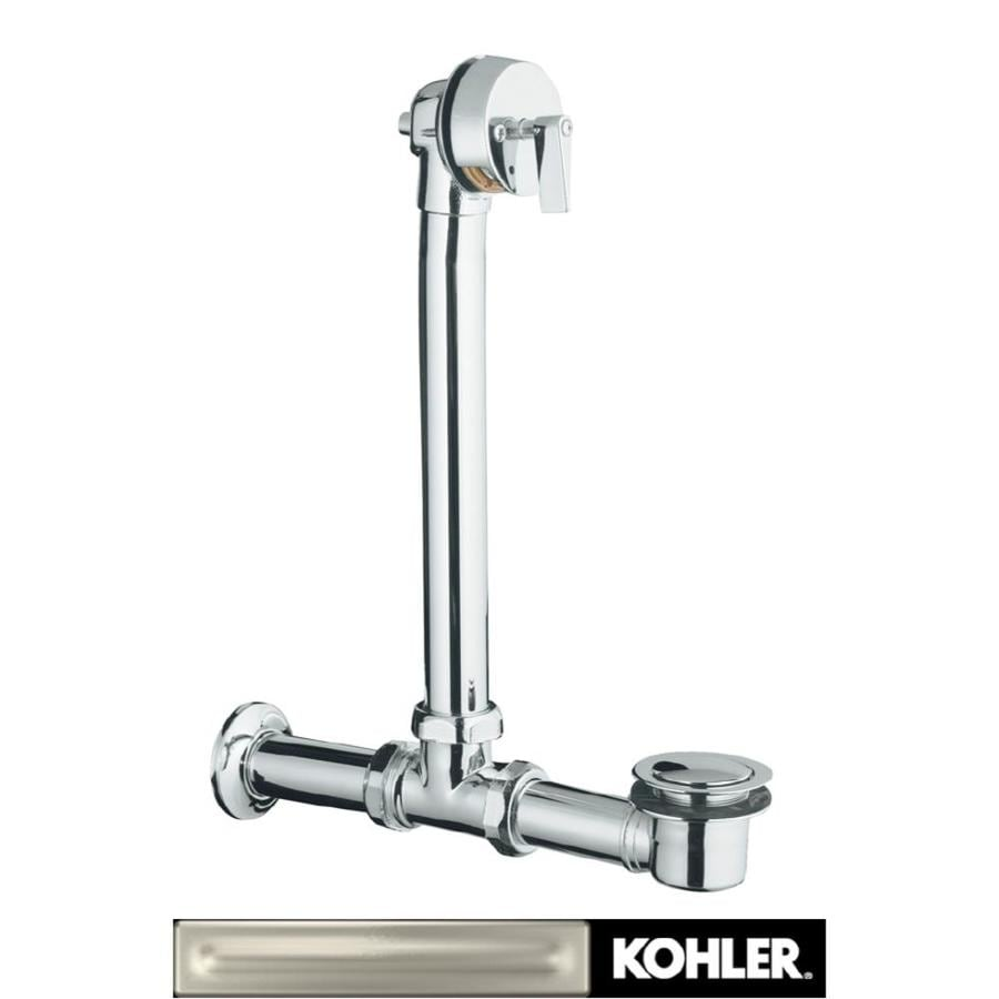 KOHLER 1-1/2-in Vibrant Brushed Nickel Triplever with Brass Pipe