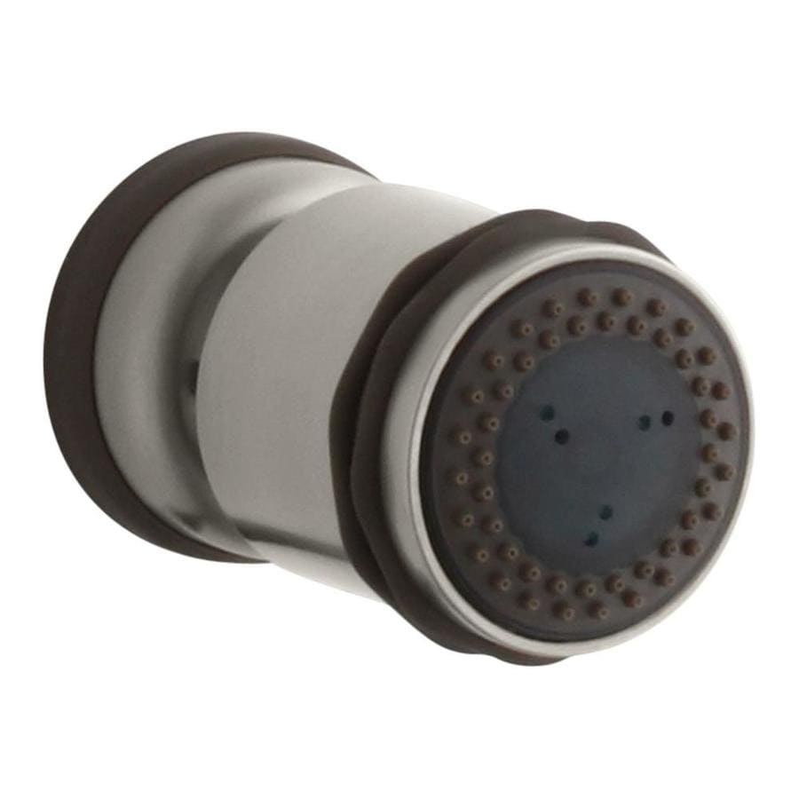 KOHLER MasterShower 2.2500-in 1.5-GPM (5.7-LPM) Vibrant Brushed Nickel 2-Spray Showerhead