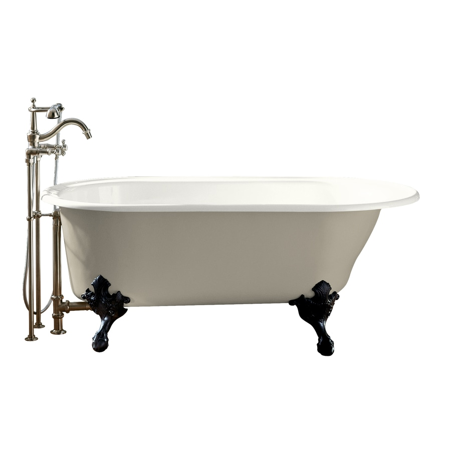 KOHLER Iron Works Historic White Cast Iron Oval Clawfoot Bathtub with Reversible Drain (Common: 36-in x 66-in; Actual: 24.5000-in x 36.0000-in x 66.0000-in)
