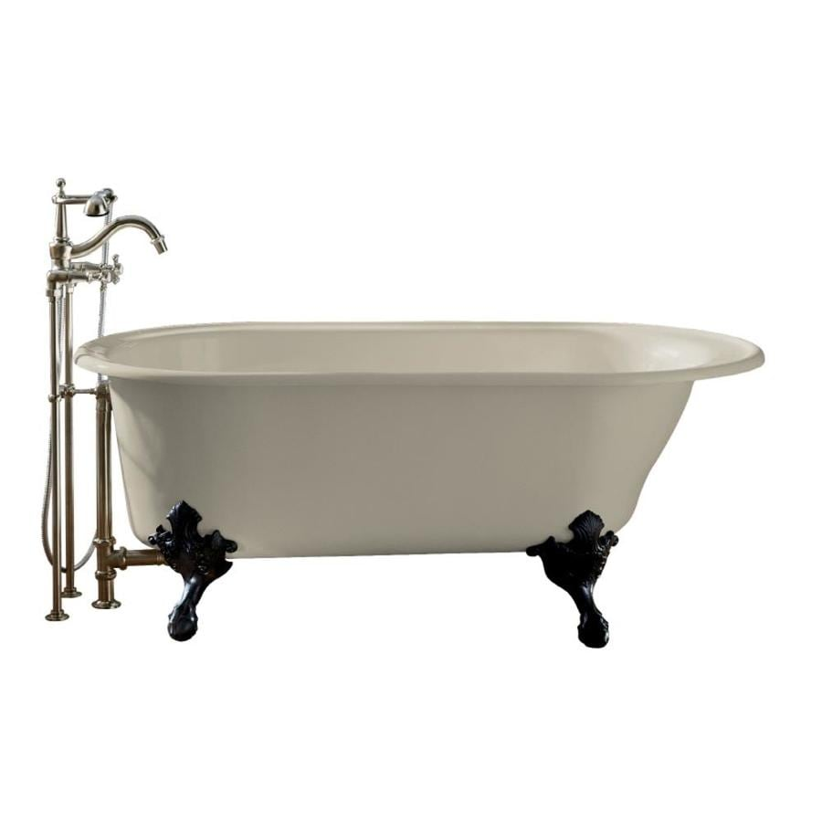 KOHLER Iron Works Historic Sandbar Cast Iron Oval Clawfoot Bathtub with Reversible Drain (Common: 36-in x 66-in; Actual: 24.5-in x 36-in x 66-in)