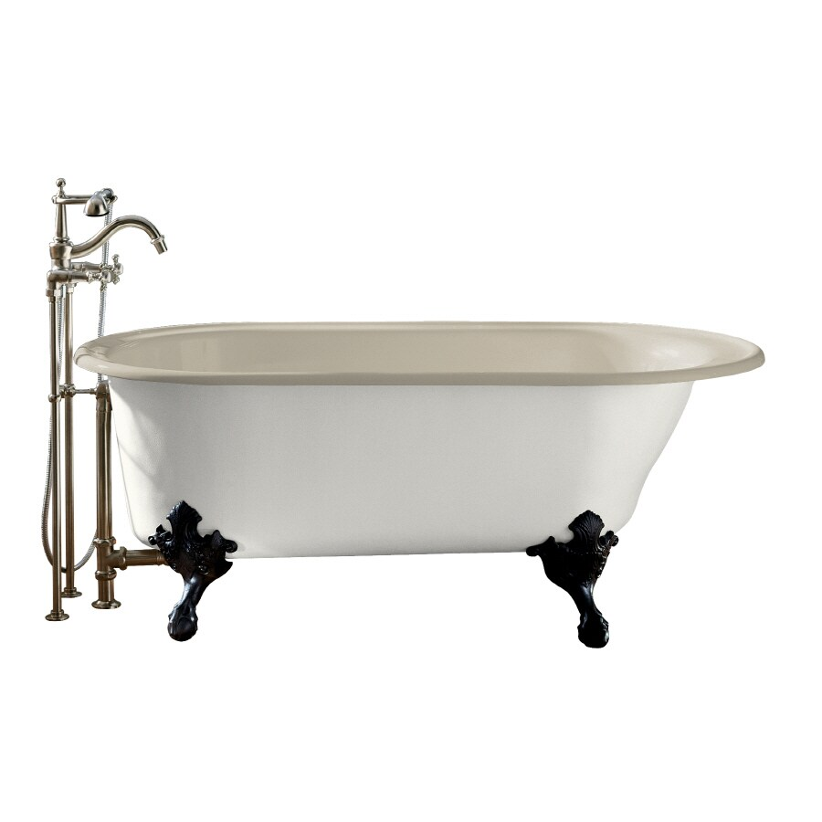 KOHLER Iron Works Sandbar Cast Iron Oval Clawfoot Bathtub with Reversible Drain (Common: 36-in x 66-in; Actual: 24.5-in x 36-in x 66-in)