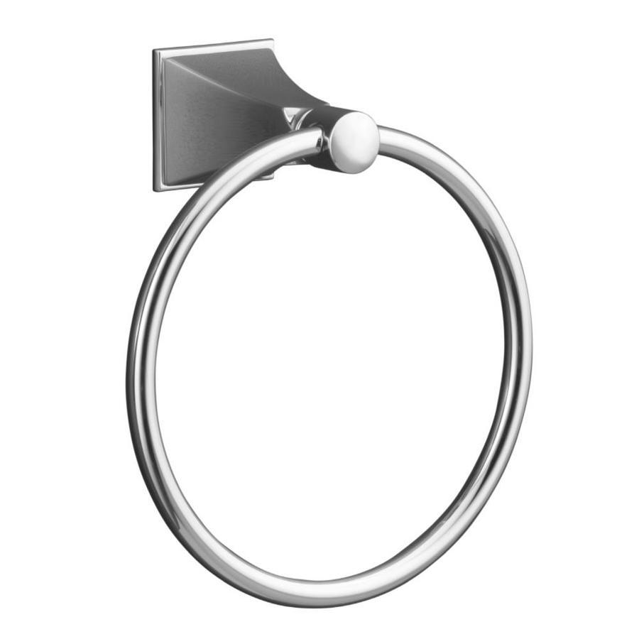 KOHLER Memoirs Polished Chrome Wall Mount Towel Ring