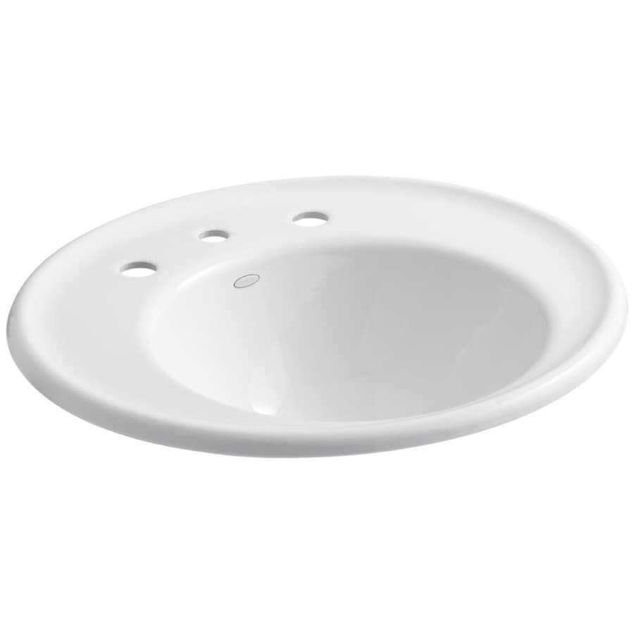 Shop kohler iron works white cast iron wall mount round bathroom sink at Kohler cast iron bathroom sink