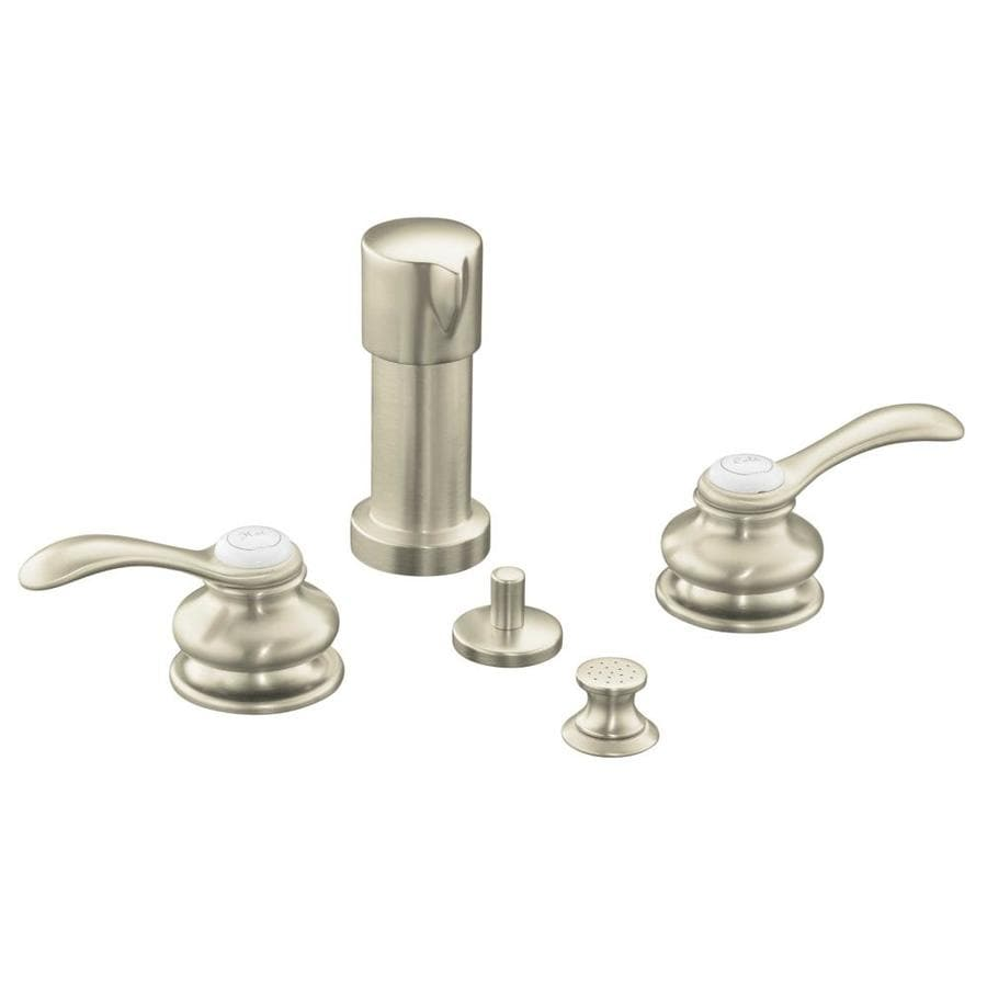 KOHLER Fairfax Vibrant Brushed Nickel Vertical Spray Bidet Faucet