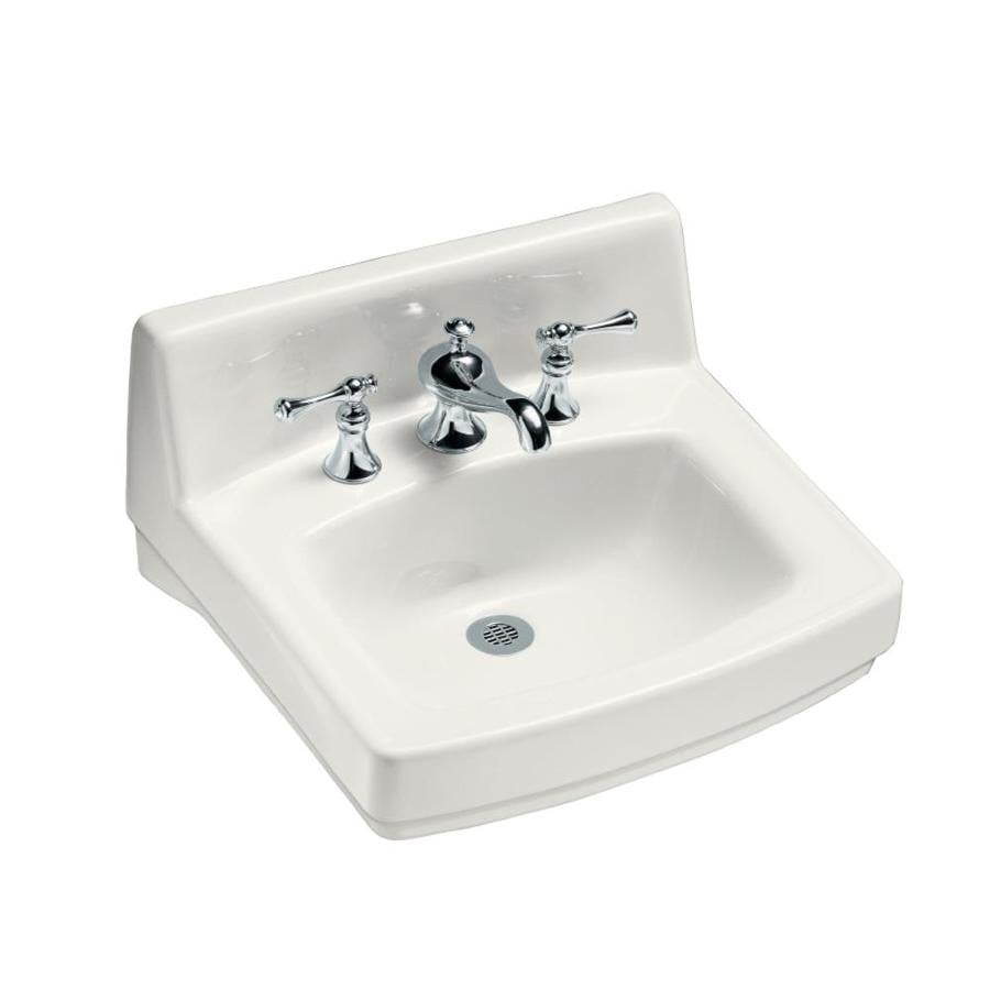 Lowes Wall Mount Sink : ... White Wall-Mount Rectangular Bathroom Sink with Overflow at Lowes.com