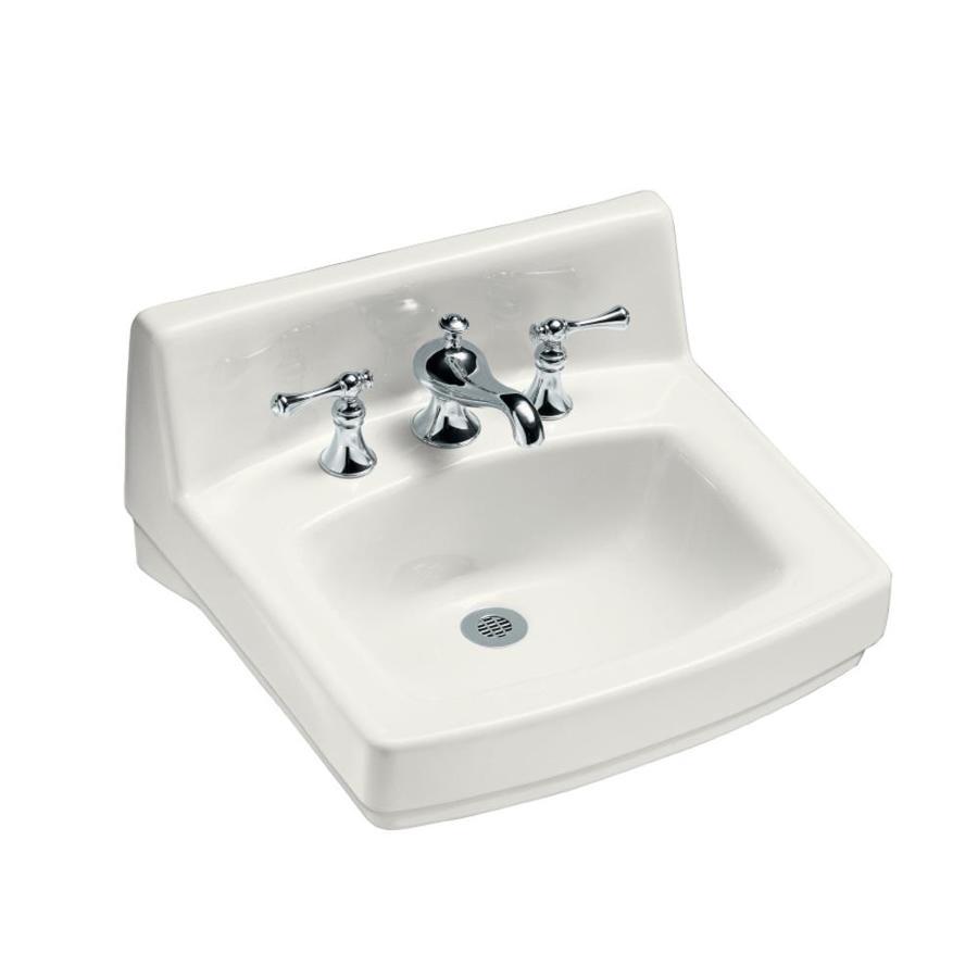 KOHLER Greenwich White Wall-Mount Rectangular Bathroom Sink