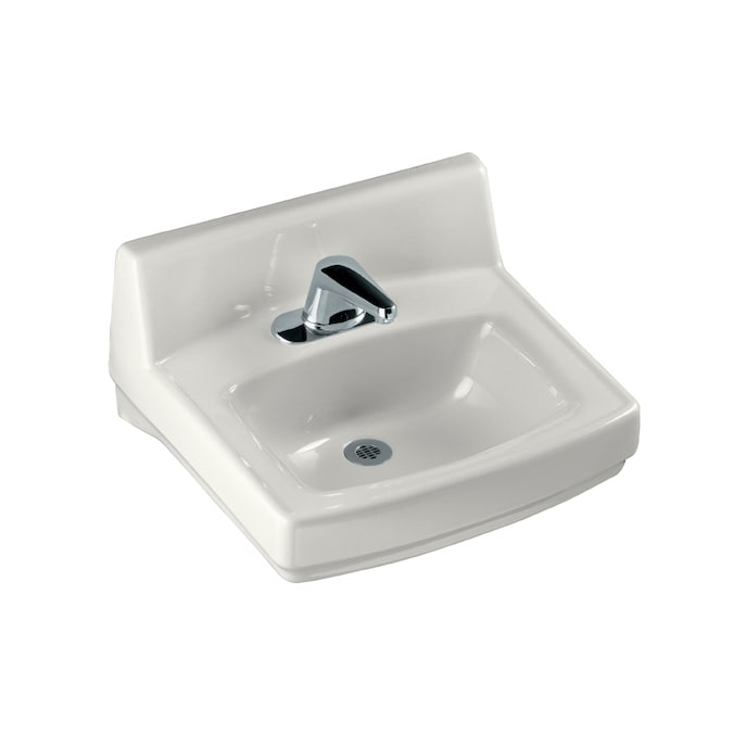 Kohler Greenwich White Wall Mount Rectangular Bathroom Sink With Overflow Artcomcrea