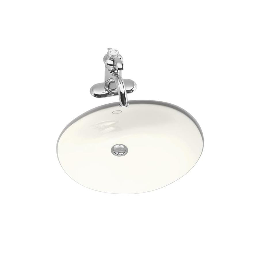 Shop kohler caxton biscuit undermount oval bathroom sink at lowes com - Kohler Caxton Biscuit Undermount Oval Bathroom Sink