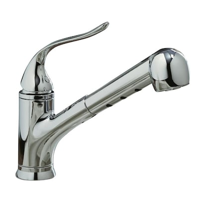 Coralais Polished Chrome 1-handle Deck Mount Pull-out Kitchen Faucet