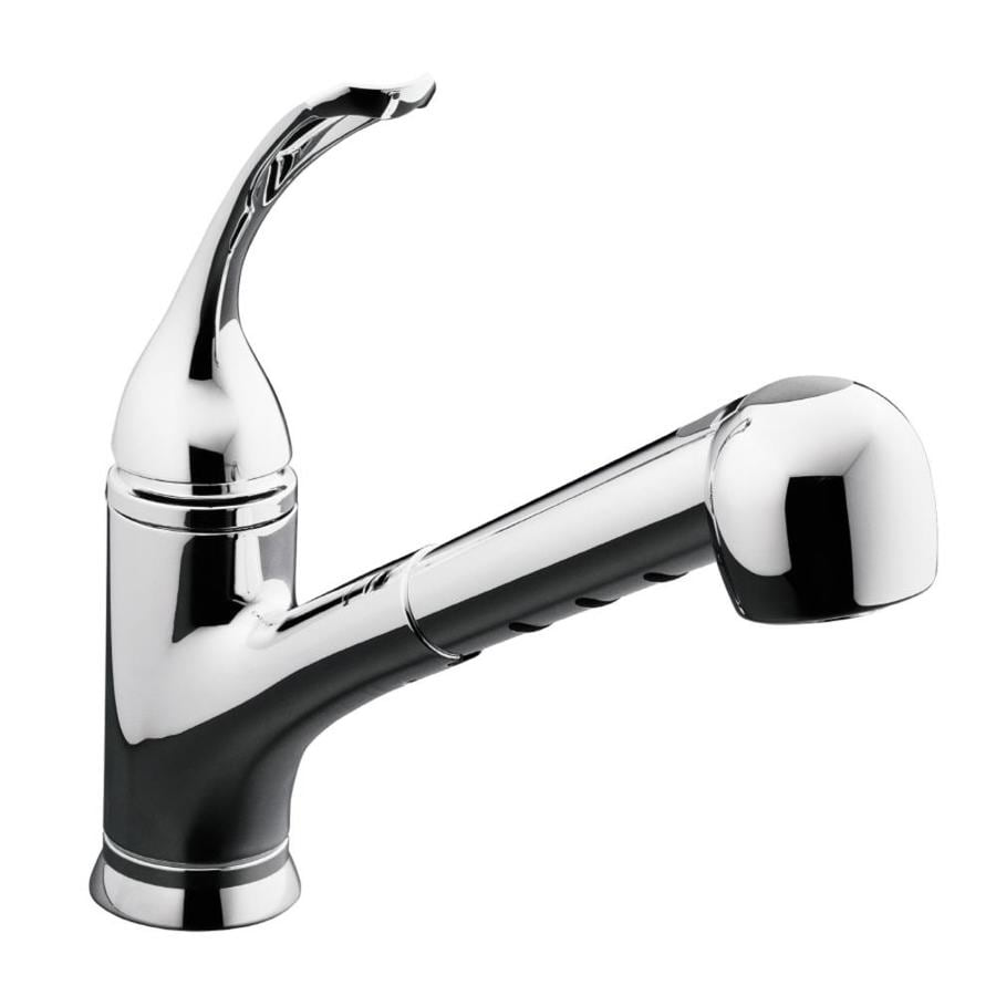 KOHLER Coralais Polished Chrome 1-Handle Pull-Out Kitchen Faucet