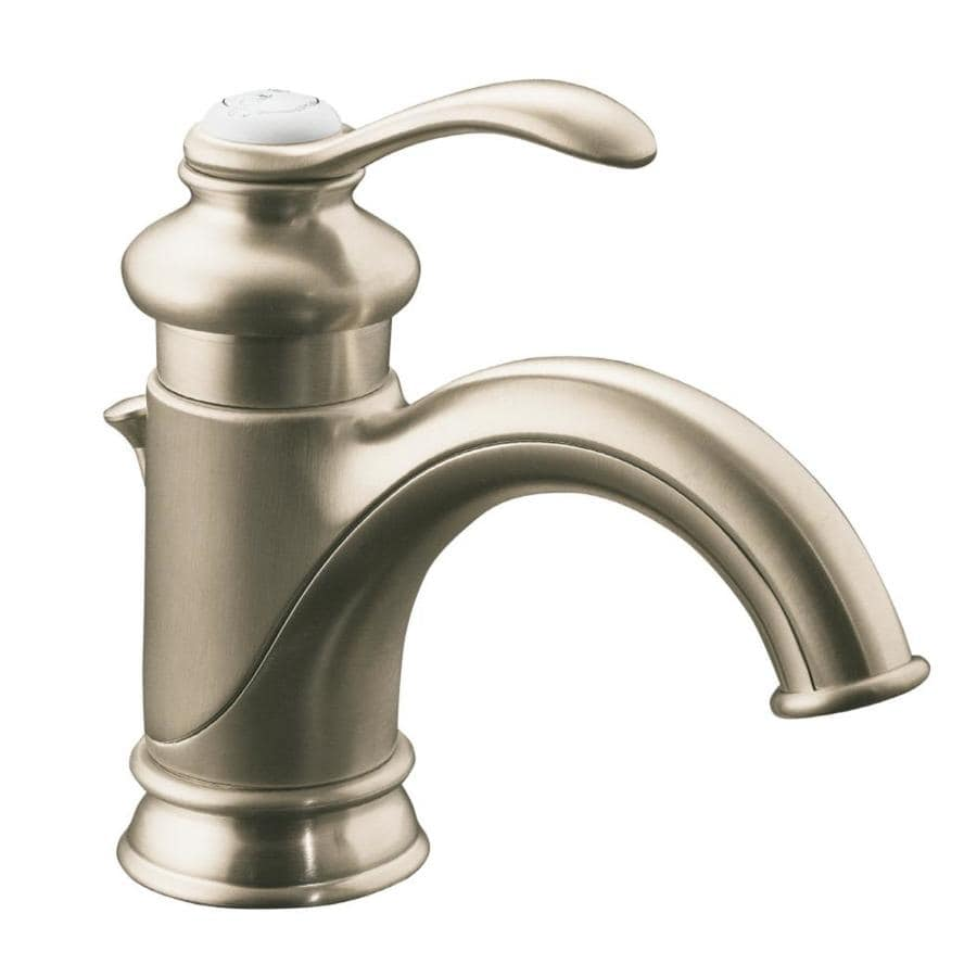 Kohler fairfax vibrant brushed nickel 1 handle single hole - Single hole bathroom faucets brushed nickel ...