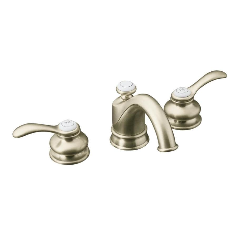 Shop Kohler Fairfax Vibrant Brushed Nickel 2 Handle Widespread Watersense Bathroom Faucet Drain
