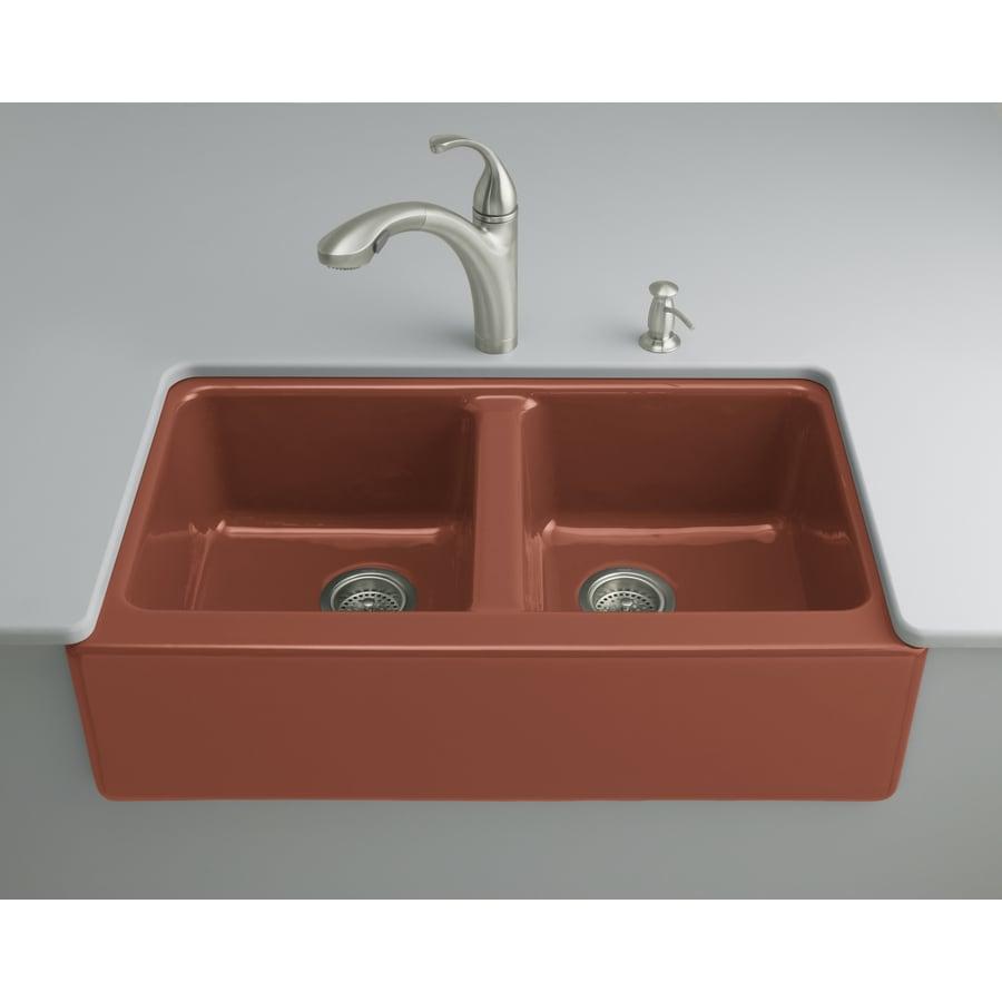 Write a Review about KOHLER Rousillon Red Double-Basin Cast ...