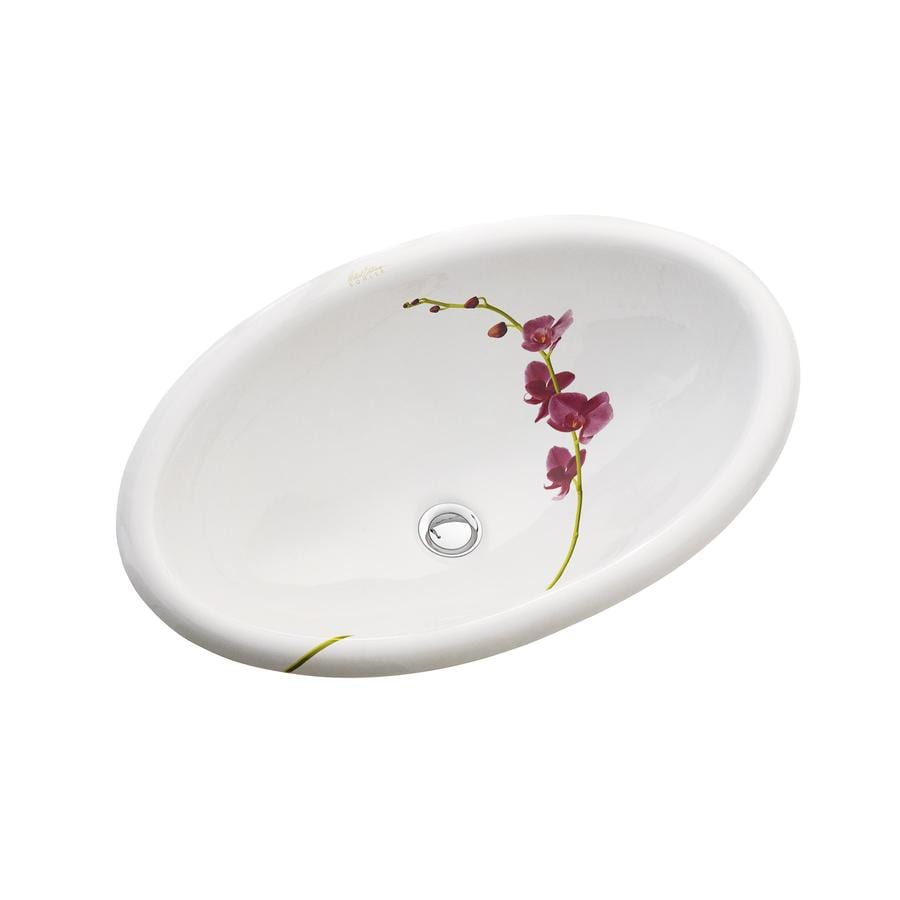 KOHLER Artist Edition Vintage White Drop-in Oval Bathroom Sink with Overflow