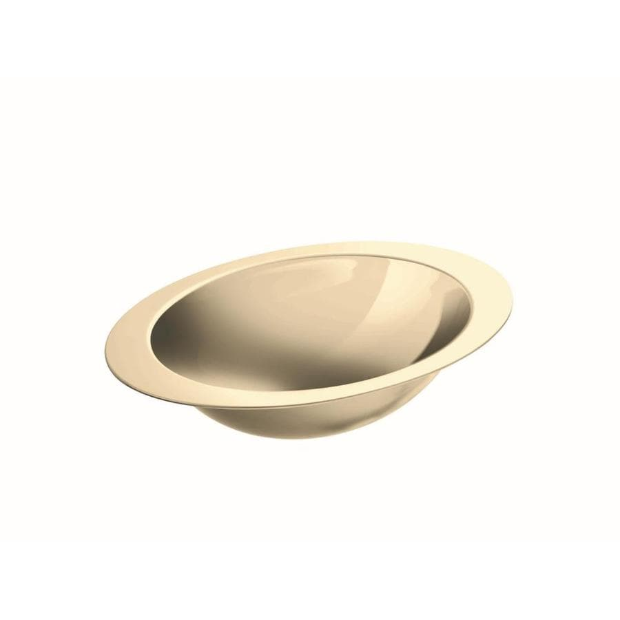 KOHLER Rhythm Mirror French Gold Stainless Steel Undermount Oval Bathroom  Sink