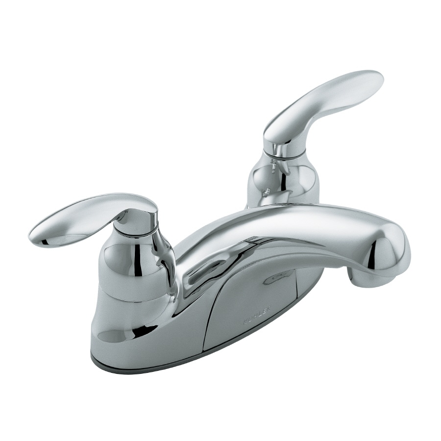 KOHLER Coralais Polished Chrome 2-Handle WaterSense Bathroom Sink Faucet