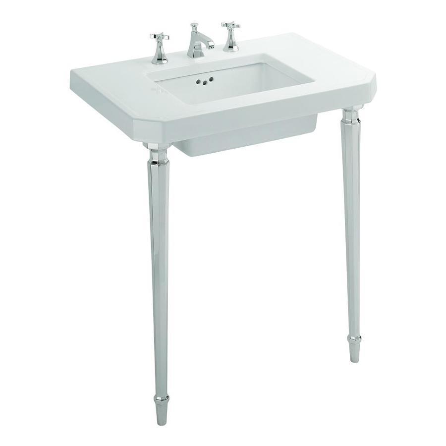 KOHLER Kathryn White Fire Clay Sink Sold Separately Bathroom Vanity Top (Common: 32-in x 22-in; Actual: 32-in x 22-in)