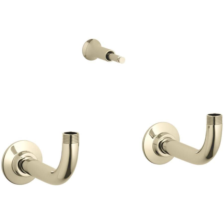 KOHLER 10.3125-in Polished Brass Shallow Flange