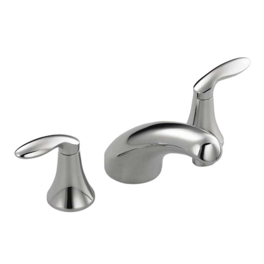 Shop kohler coralais polished chrome 2 handle deck mount bathtub faucet at for Kohler coralais bathroom faucet