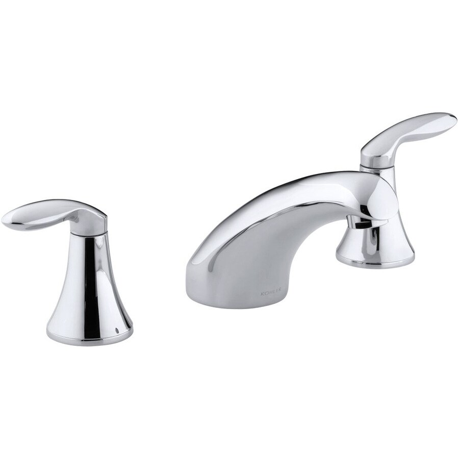 Shop kohler coralais polished chrome 2 handle widespread bathroom faucet at for Kohler coralais bathroom faucet