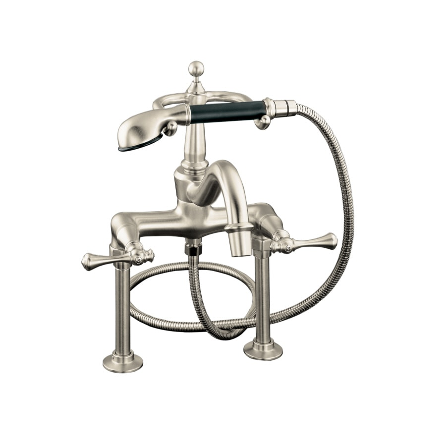 KOHLER Revival Vibrant Brushed Nickel 2-Handle Fixed Deck Mount Bathtub Faucet