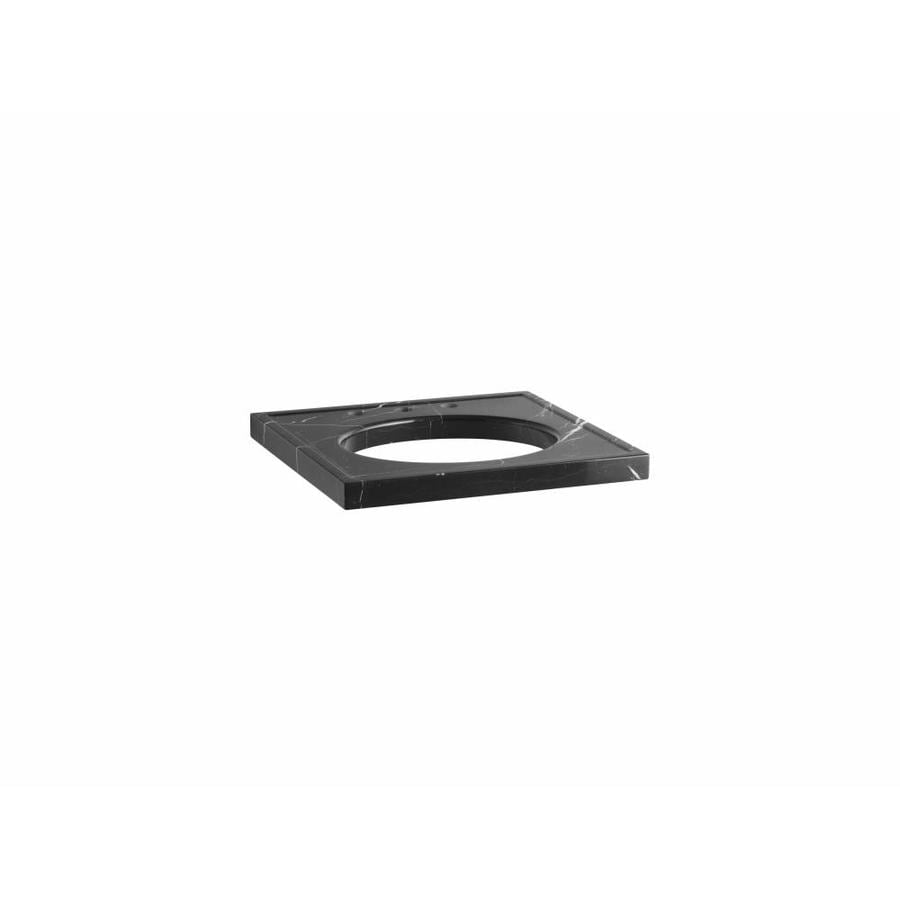 KOHLER Kathryn Nero Marquina Marble Cultured Marble Sink Sold Separately Bathroom Vanity Top (Common: 24-in x 22-in; Actual: 24-in x 22-in)