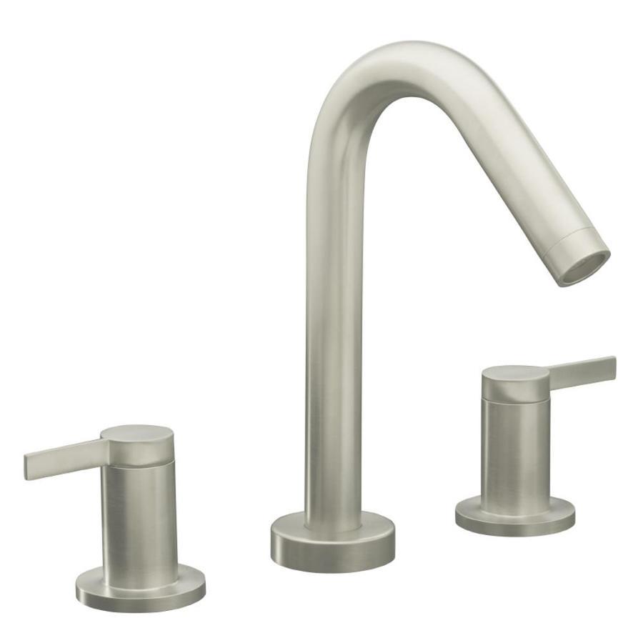 KOHLER Stillness Vibrant Brushed Nickel 2-Handle Deck Mount Bathtub Faucet