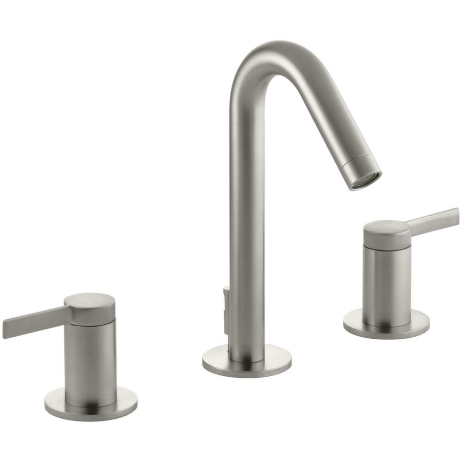 KOHLER Stillness Vibrant Brushed Nickel 2-Handle Widespread WaterSense Bathroom Faucet (Drain Included)