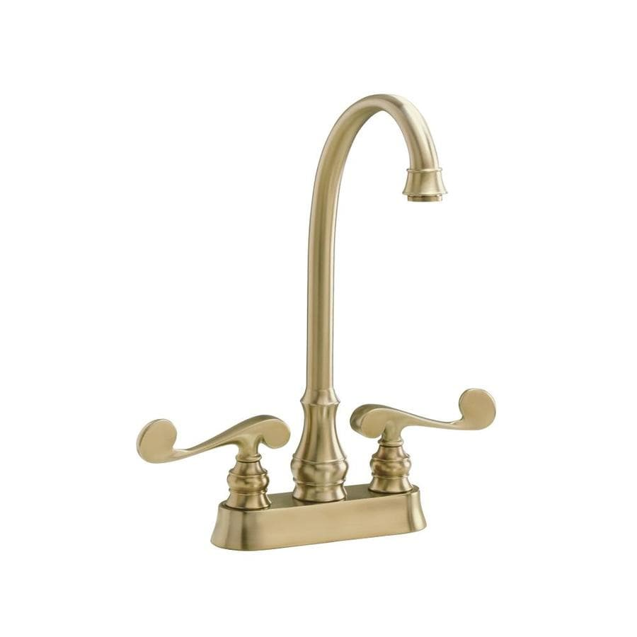 Kohler Revival Vibrant Brushed Bronze 2 Handle Bar And Prep Faucet