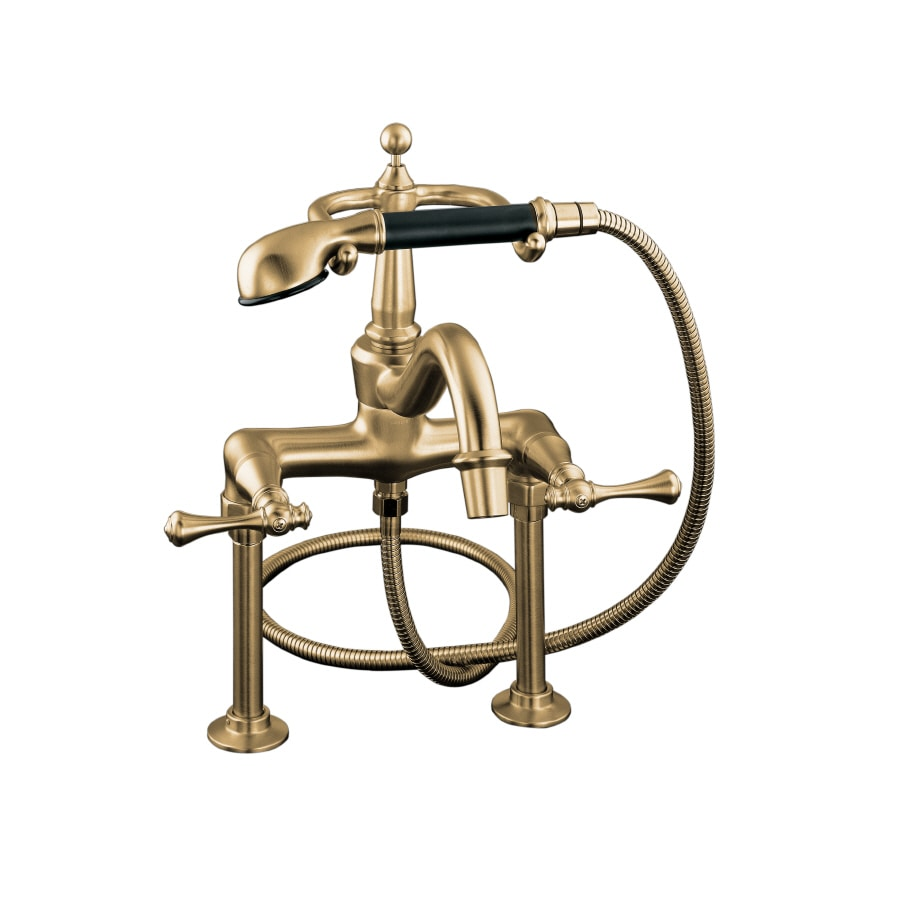 KOHLER Revival Vibrant Brushed Bronze 2-Handle Deck Mount Bathtub Faucet