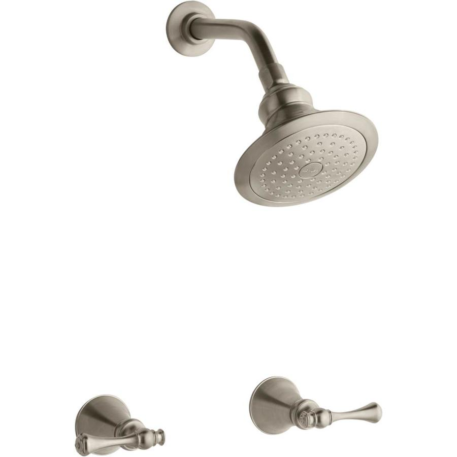 kohler revival vibrant brushed bronze 2handle shower faucet with single function showerhead