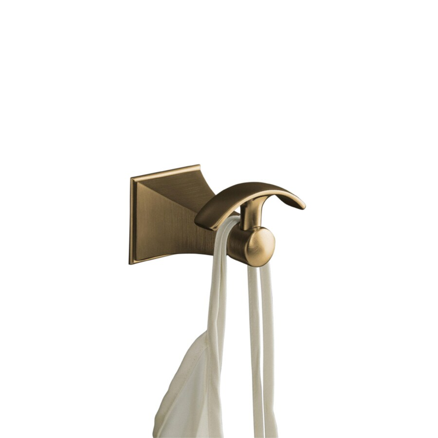 Shop kohler memoirs vibrant brushed bronze robe hook at for Vibrant brushed bronze bathroom lighting