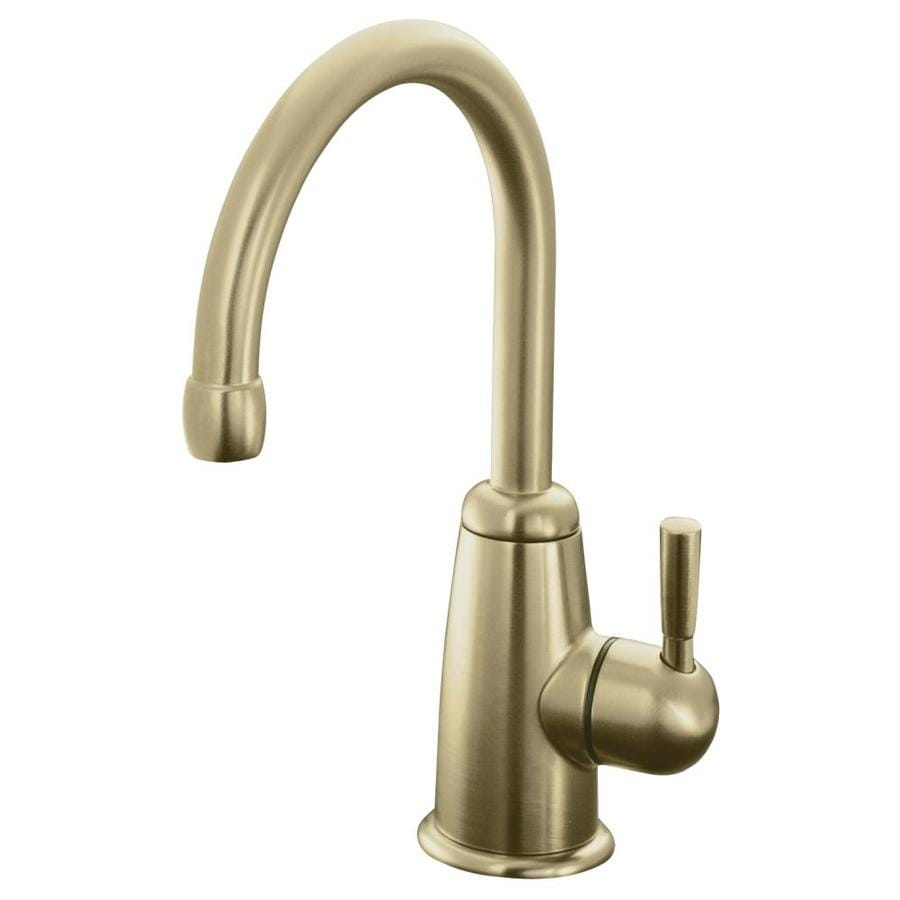 KOHLER Wellspring Vibrant Brushed Bronze 1-Handle Bar and Prep Faucet