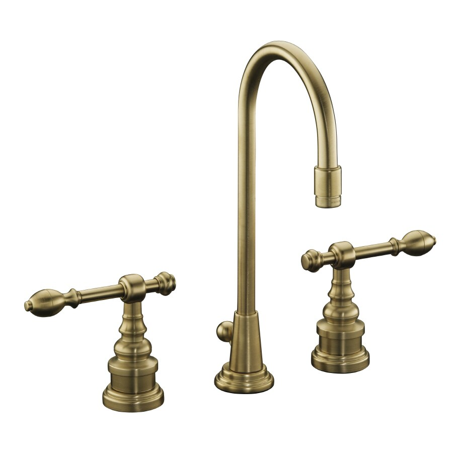 KOHLER IV Georges Brass Vibrant Brushed Bronze 2-Handle Widespread WaterSense Bathroom Faucet (Drain Included)