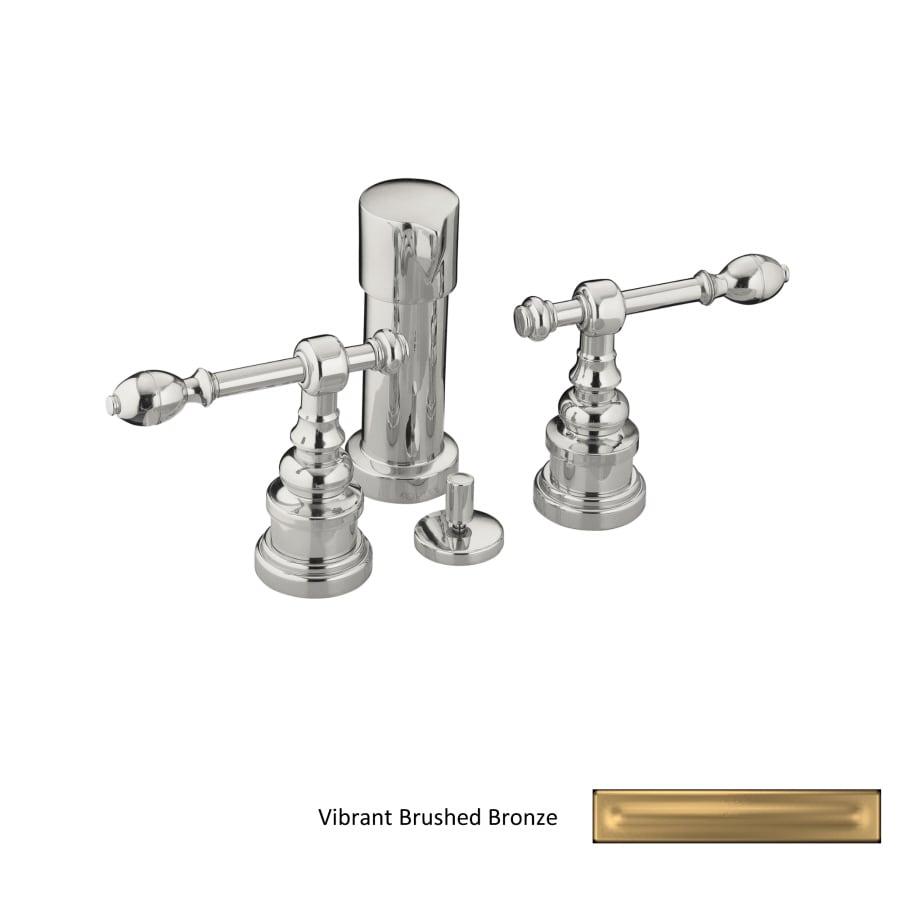 KOHLER Iv Georges Brass Vibrant Brushed Bronze Vertical Spray Bidet Faucet with Trim Kit